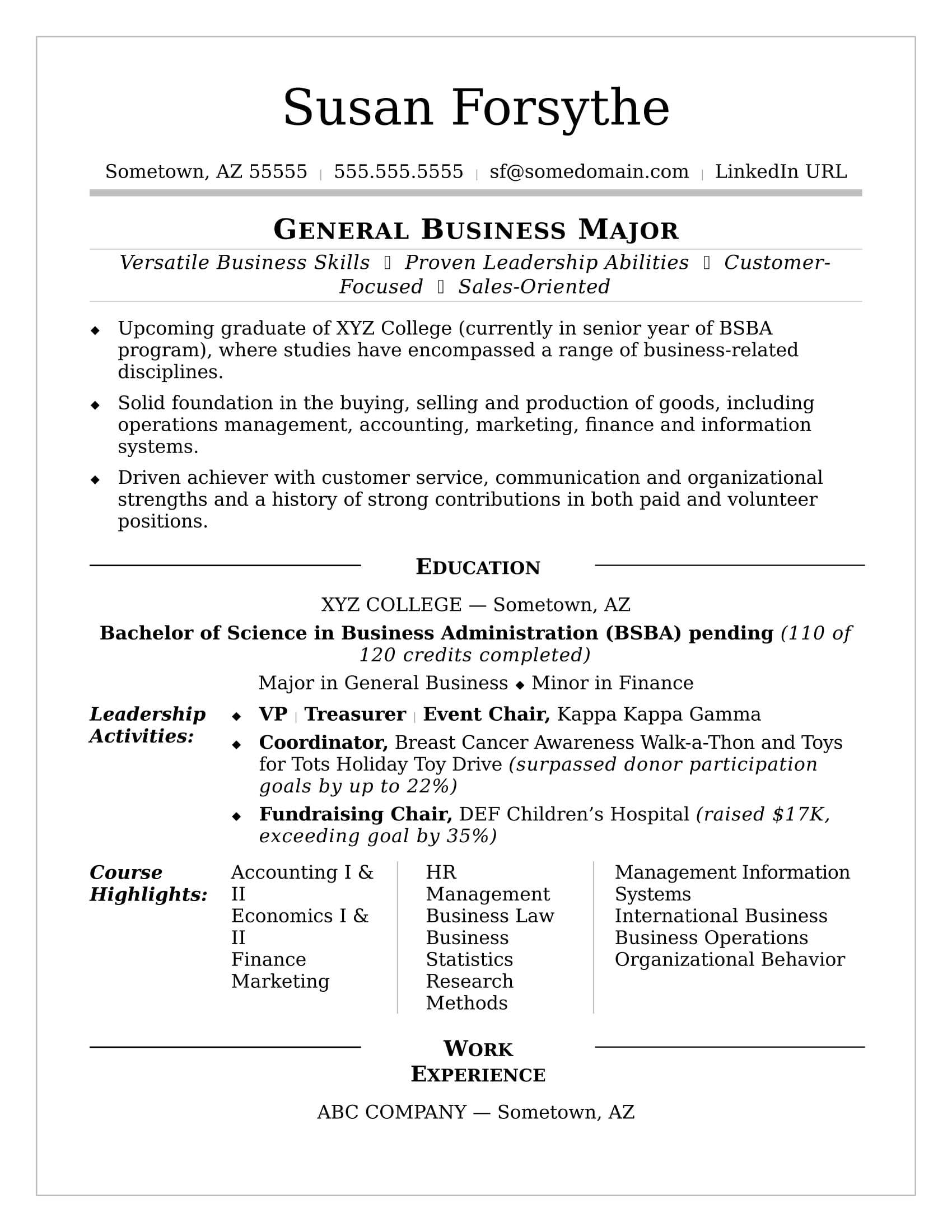 College Resume   Monster For College Student Resume Template Microsoft Word