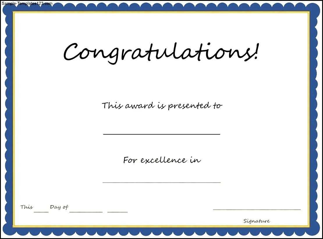 Congratulation Certificate Templates - Karan.ald2014 With Congratulations Certificate Word Template