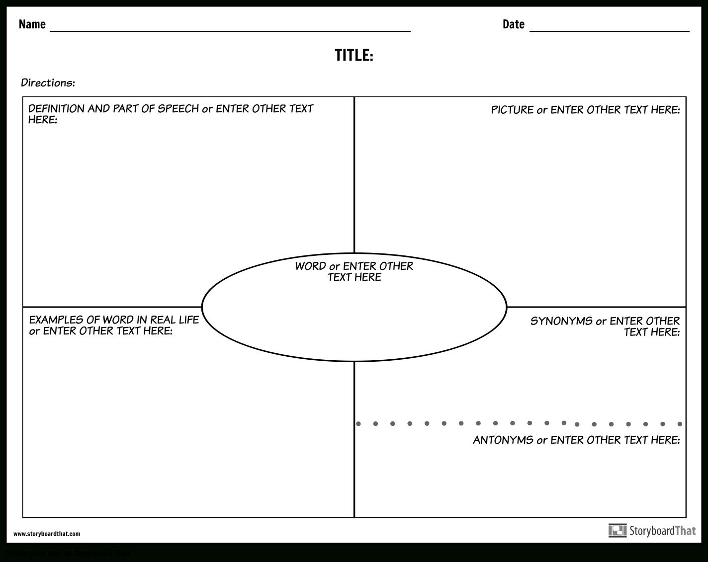 Create Vocabulary Worksheets   Vocabulary Templates Regarding Vocabulary Words Worksheet Template