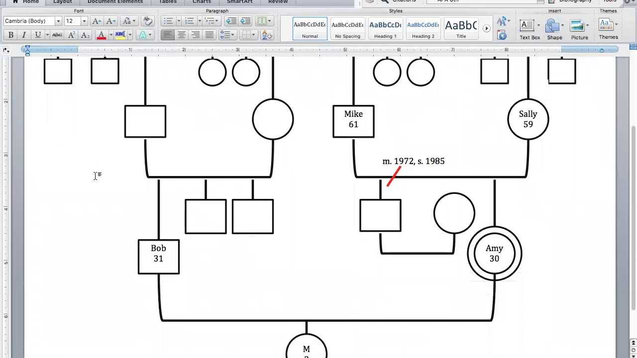 Create Your Genogram Intended For Genogram Template For Word