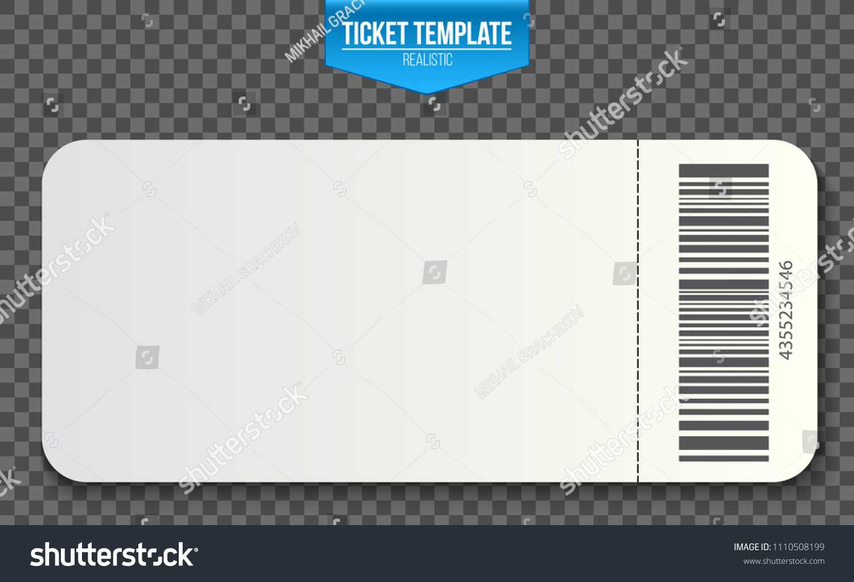 Стоковая Векторная Графика «Creative Vector Illustration For Blank Train Ticket Template