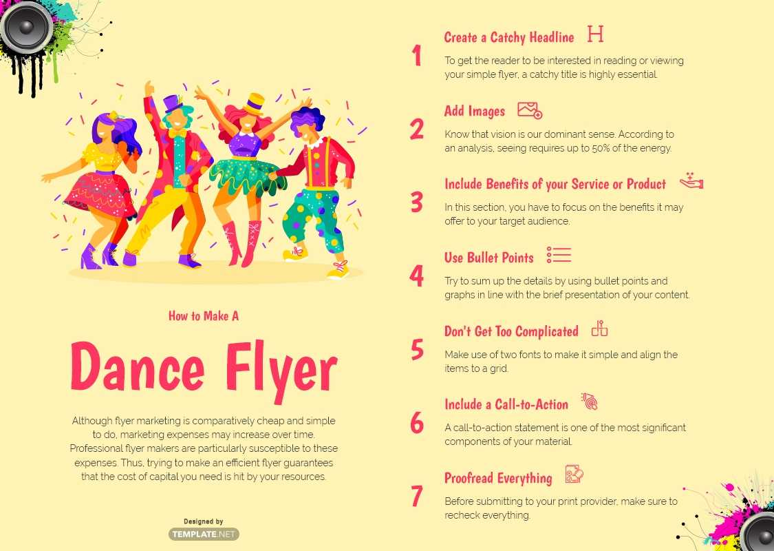 Download 22+ Dance Flyer Templates - Word (Doc) | Psd In Dance Flyer Template Word