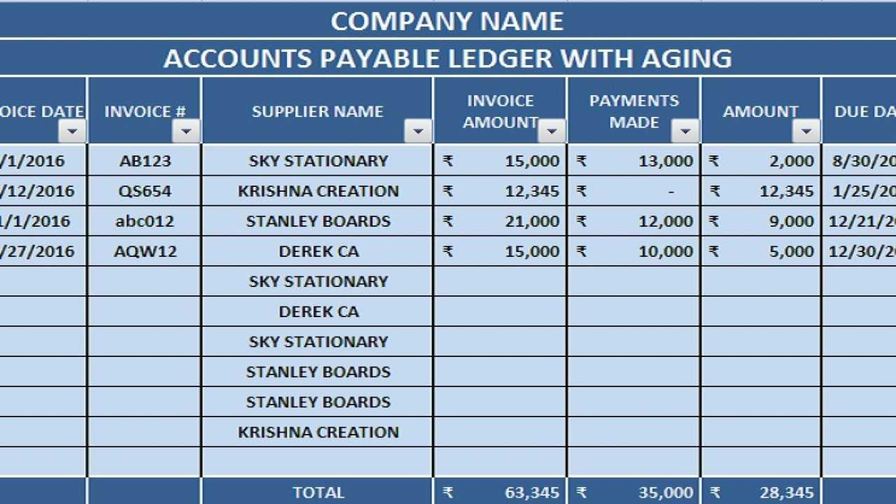 Download Accounts Payable With Aging Excel Template Throughout Accounts Receivable Report Template