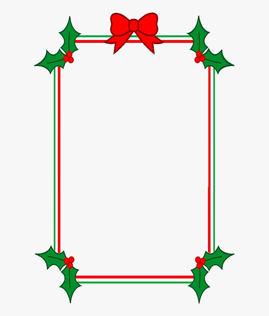 Download Holly Border Clipart - Christmas Border Template Throughout Christmas Border Word Template