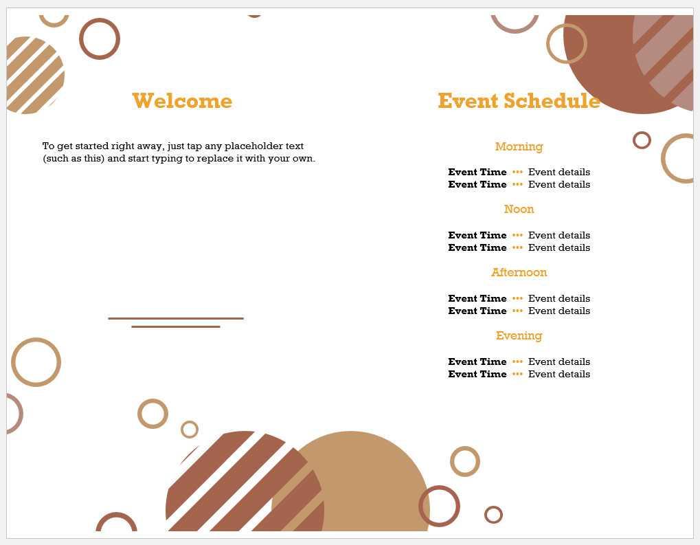 √ Free Printable Event Program Template   Templateral In Free Event Program Templates Word