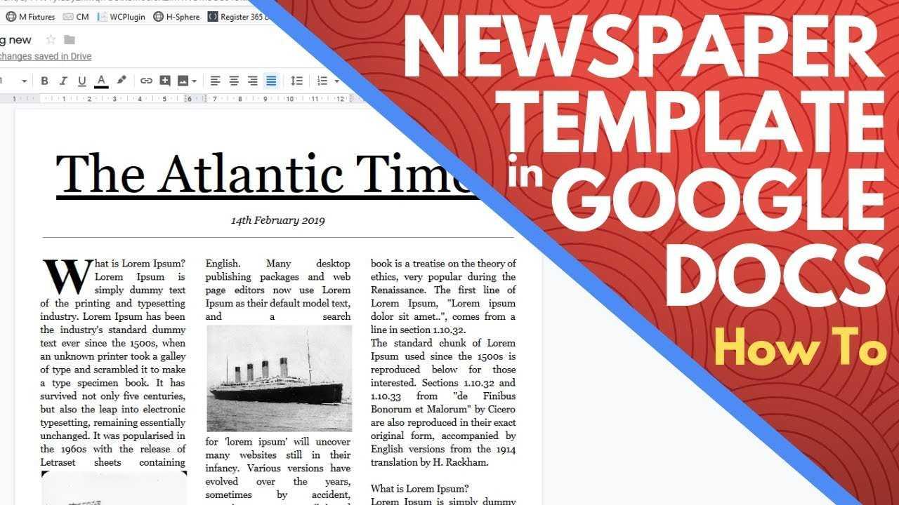 Editable Newspaper Template Google Docs – How To Make A Newspaper On Google  Docs In News Report Template