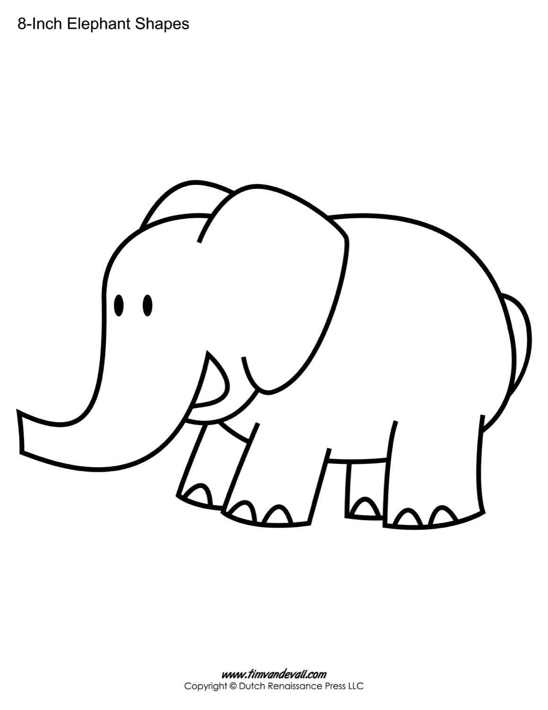 Elephant Outline Printable - Karati.ald2014 In Blank Elephant Template