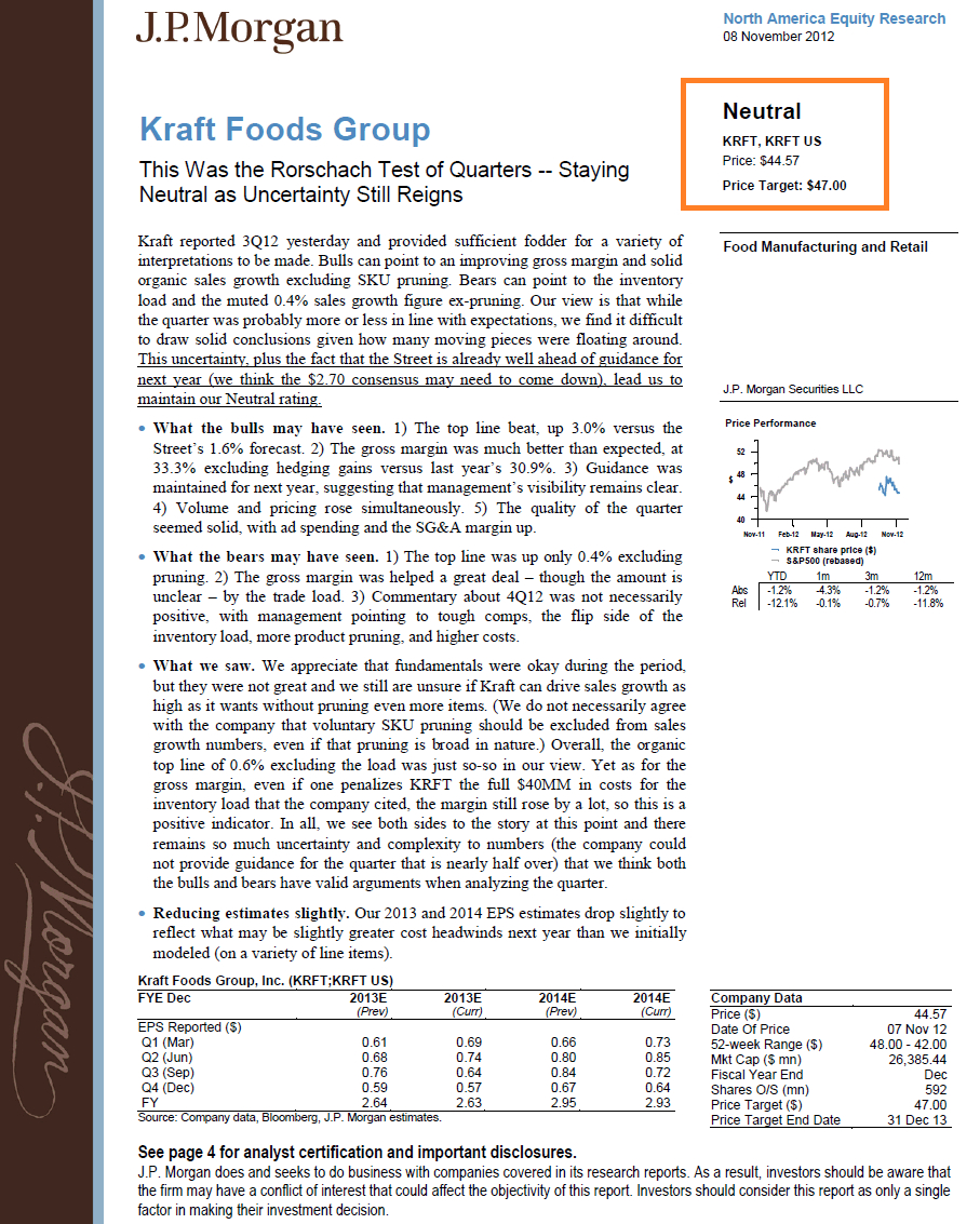 Equity Research Report - An Inside Look At What's Actually Inside Stock Analyst Report Template