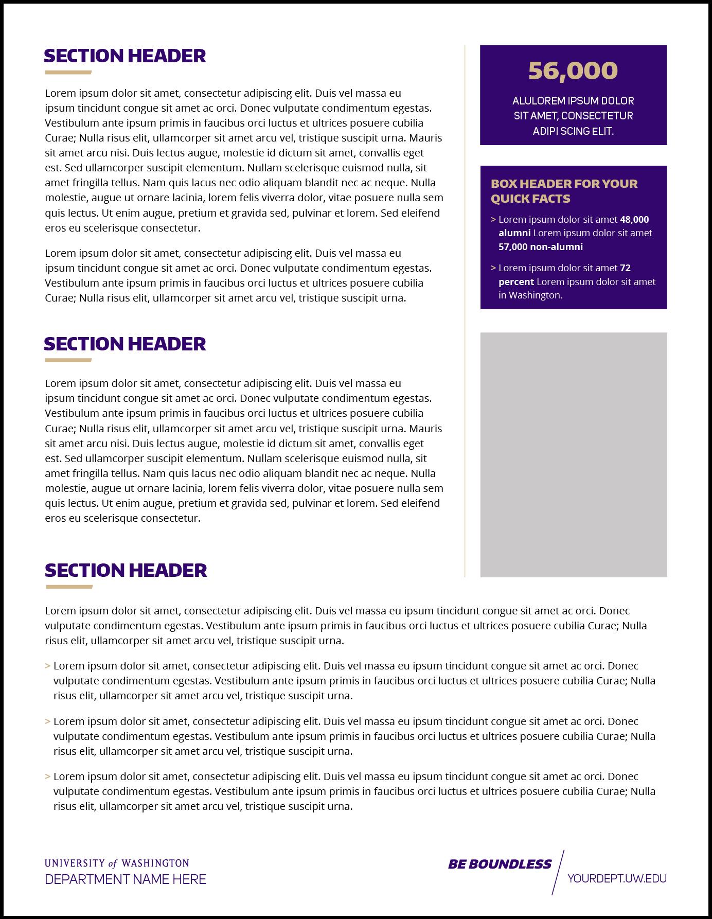 Fact Sheet | Uw Brand For Fact Sheet Template Microsoft Word