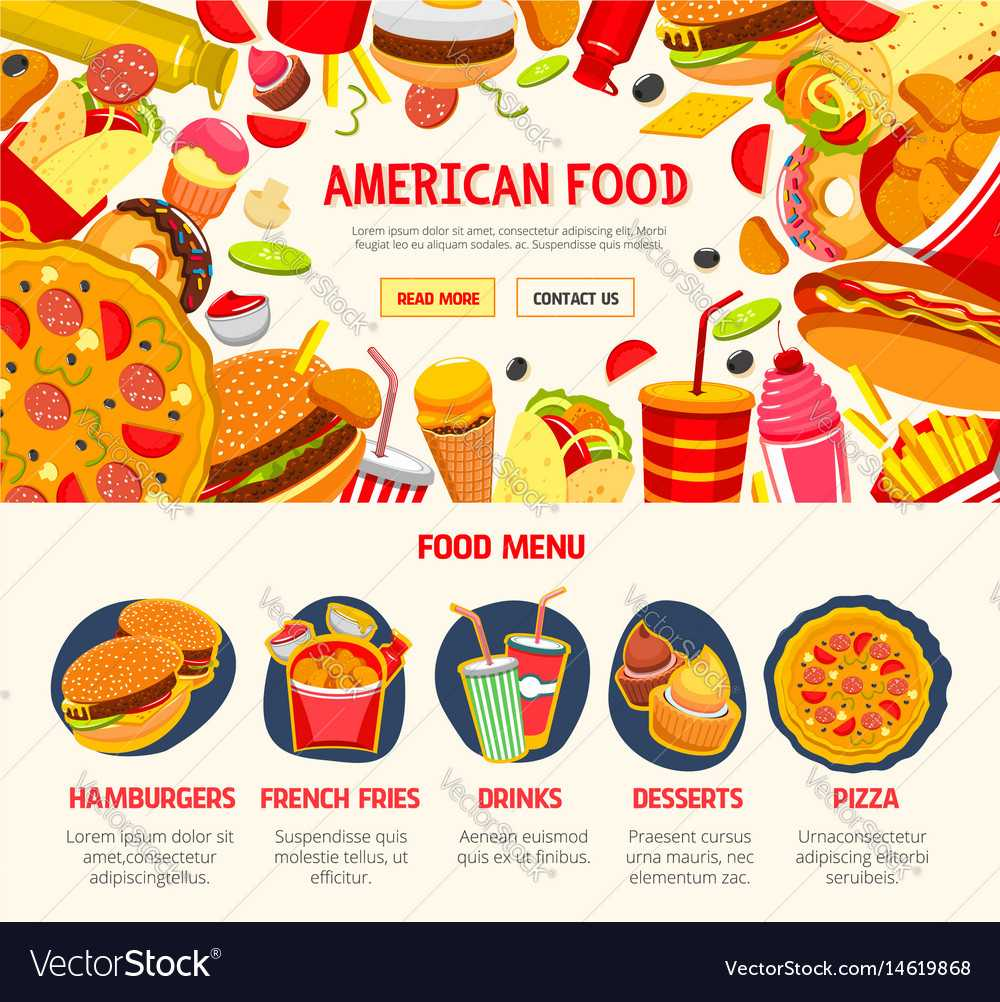 Fast Food Restaurant Menu Banner Template Throughout Food Banner Template