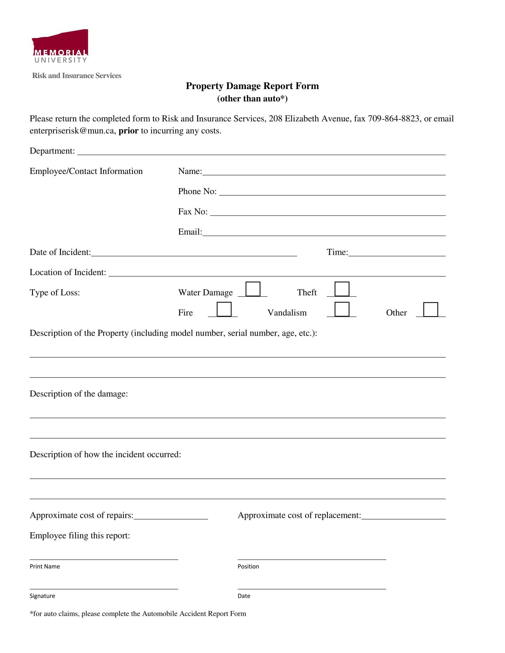 Free 14+ Damage Report Forms In Ms Word   Pdf   Excel Pertaining To Car Damage Report Template