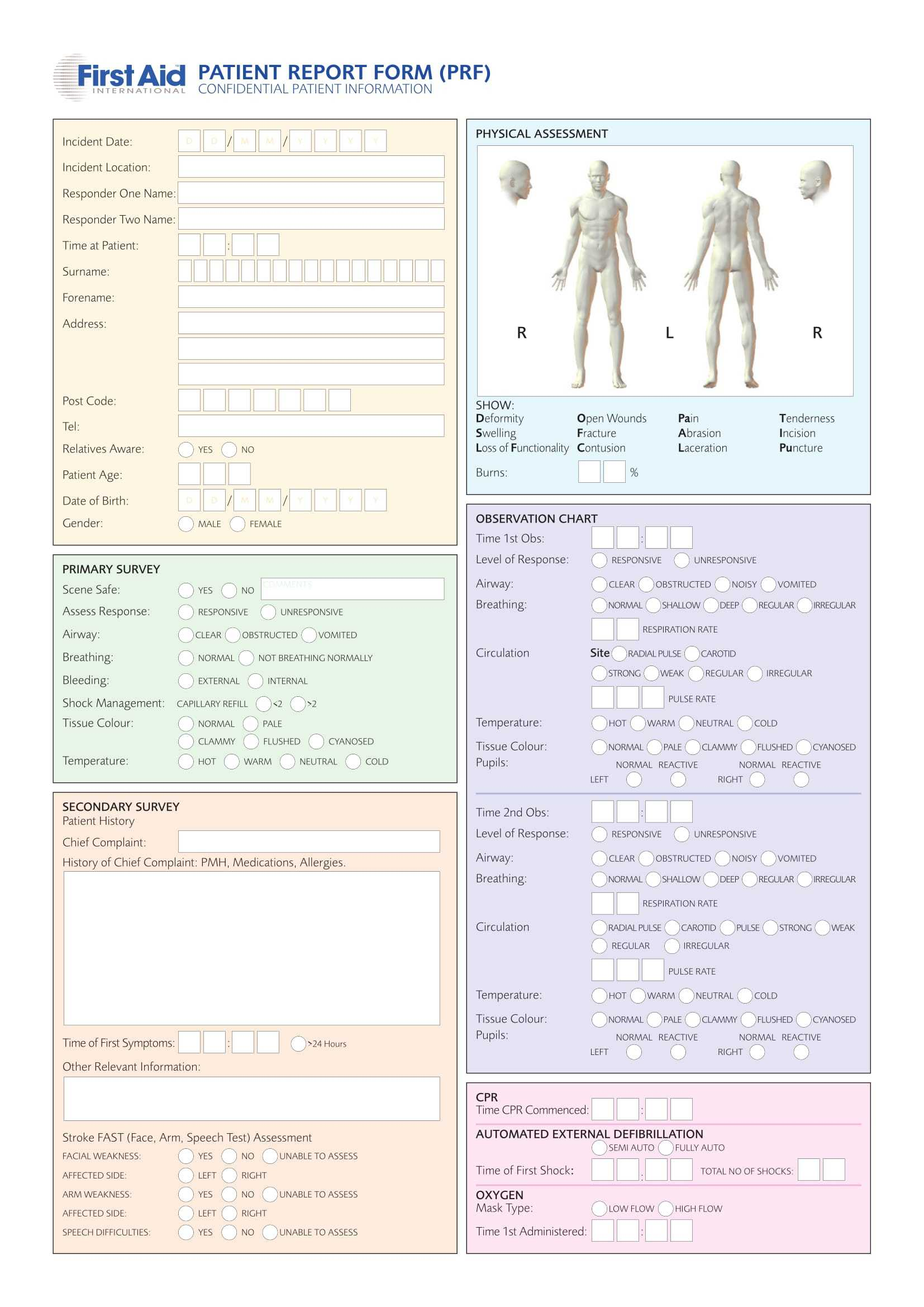 Free 14+ Patient Report Forms In Pdf | Ms Word Intended For Patient Report Form Template Download