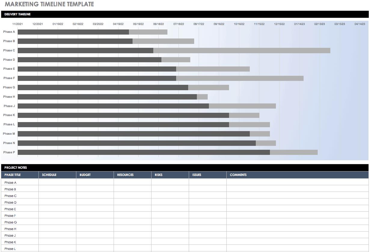 Free Blank Timeline Templates | Smartsheet Regarding Blank Scheme Of Work Template