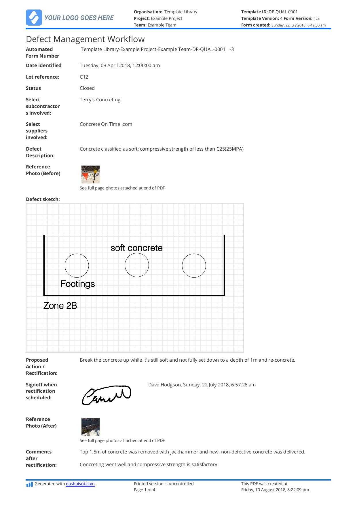 Free Defect Report Template (Better Than Word Doc And Excel) With Building Defect Report Template