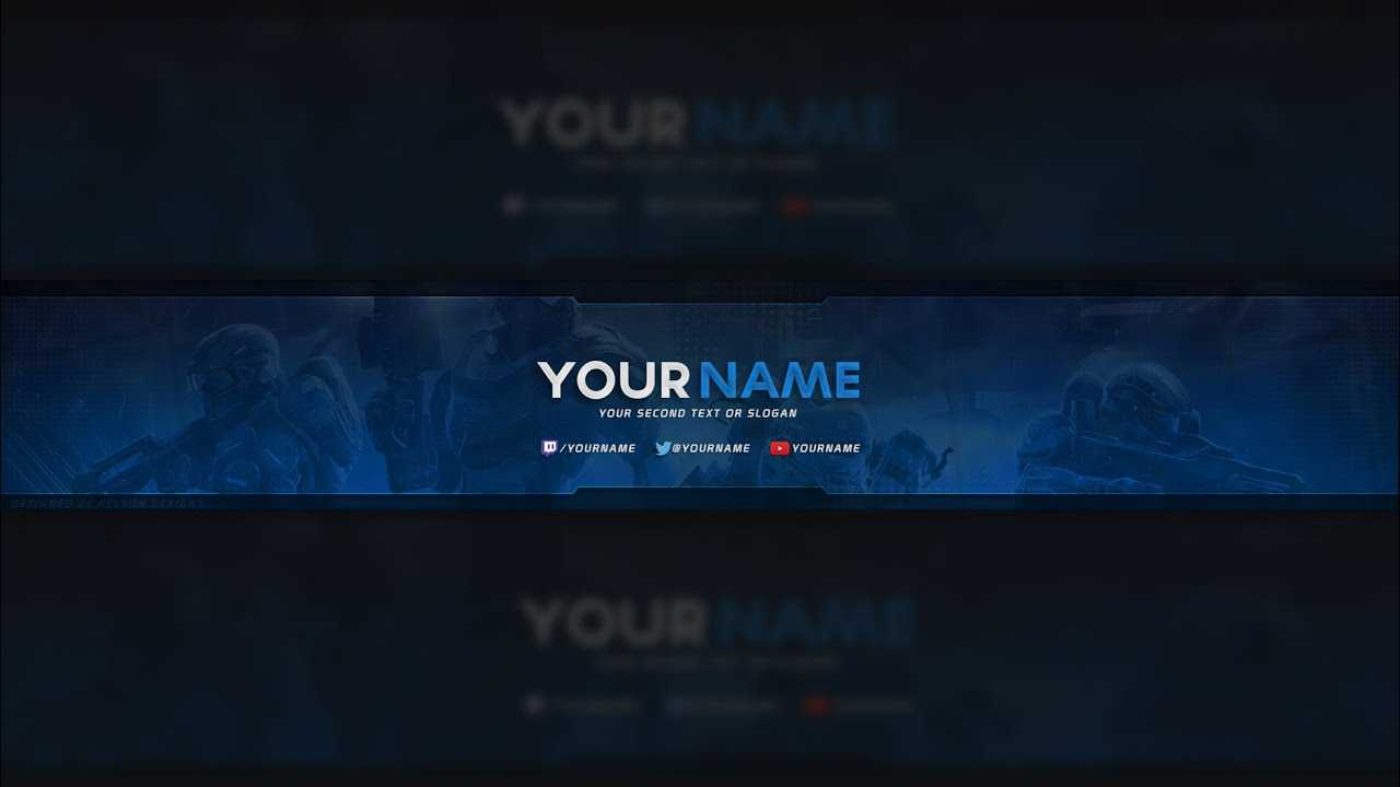 Free Halo Youtube Banner Template (Psd) Pertaining To Youtube Banners Template