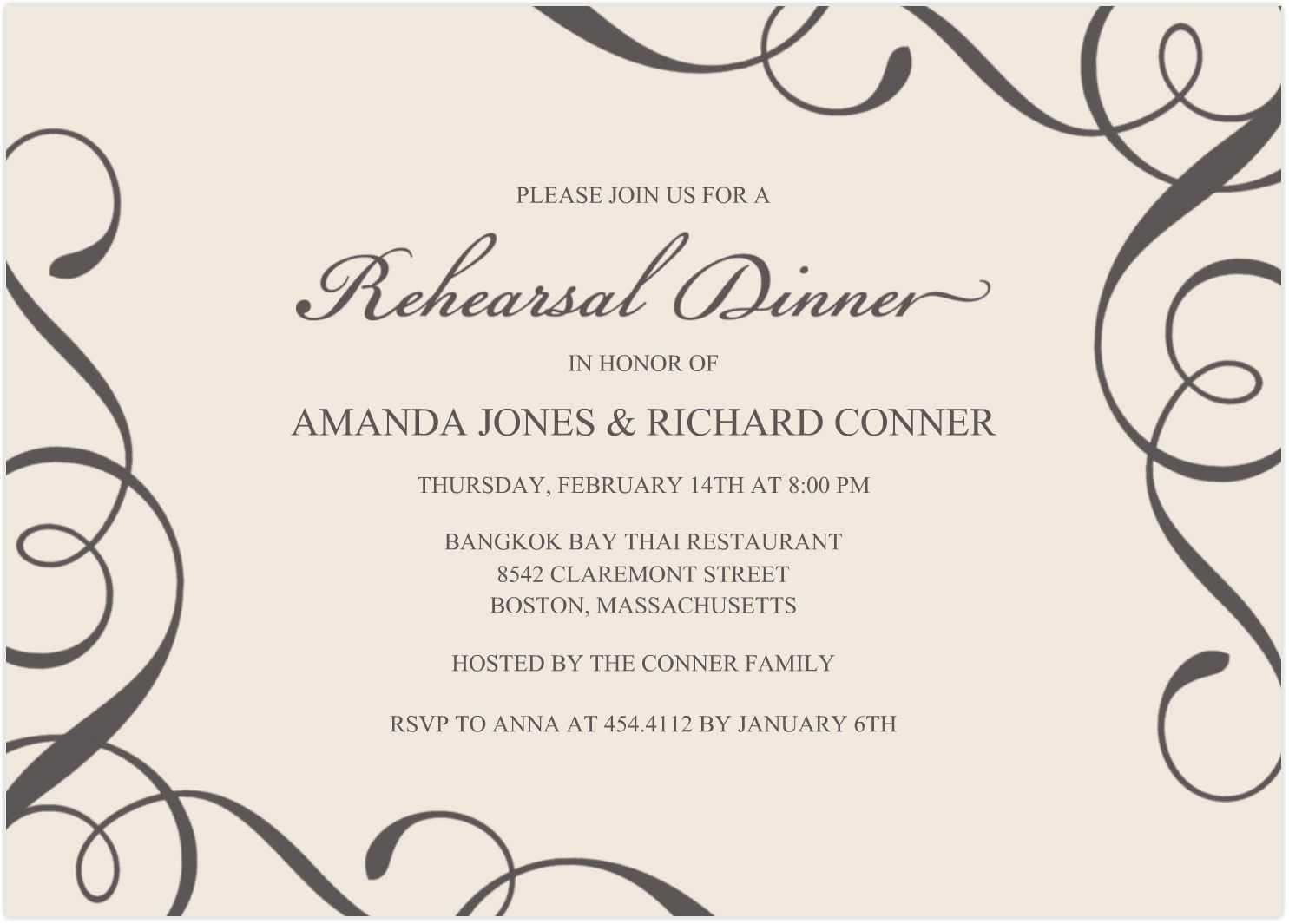 Free Invitation Templates Word - Karati.ald2014 For Free Dinner Invitation Templates For Word