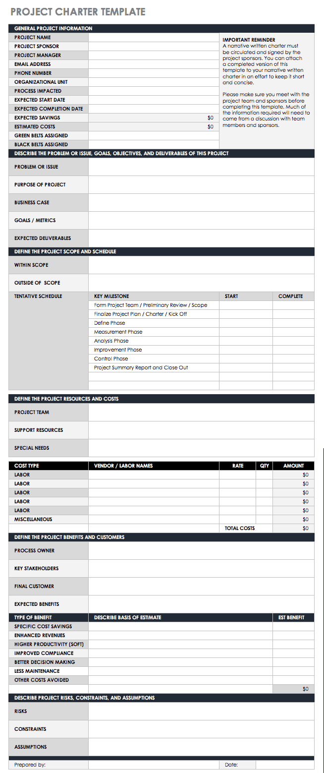 Free Lean Six Sigma Templates | Smartsheet With Regard To 8D Report Template Xls