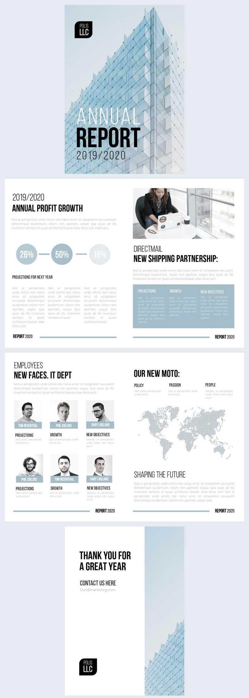 Free Modern Llc Annual Report Template - Flipsnack With Regard To Llc Annual Report Template
