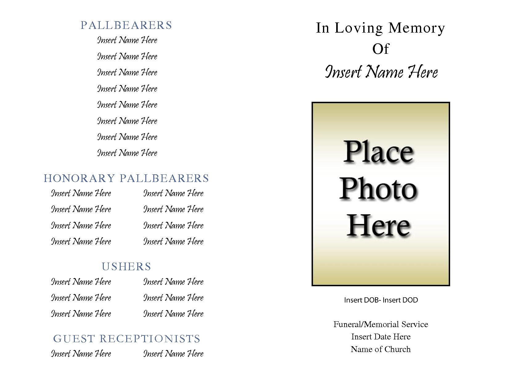 Free Obituary Template | E Commercewordpress Regarding Free Obituary Template For Microsoft Word