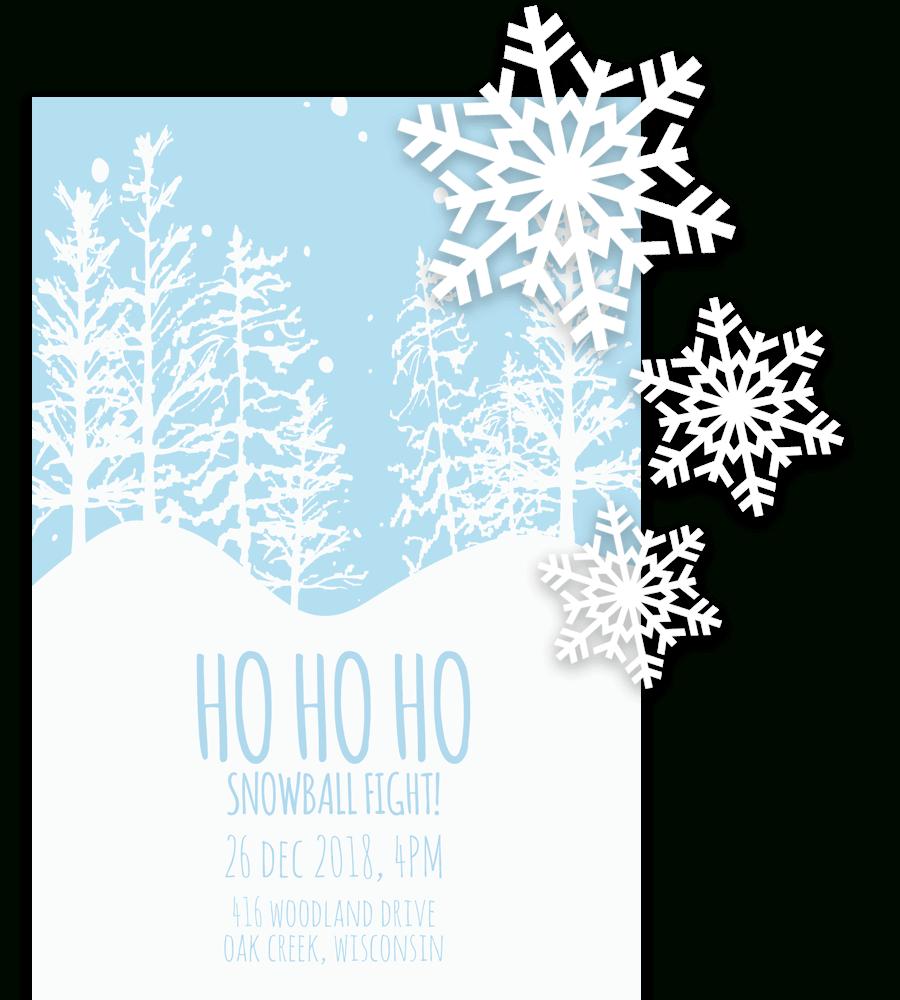Free Printable Christmas Invitation Templates In Word! Pertaining To Free Christmas Invitation Templates For Word