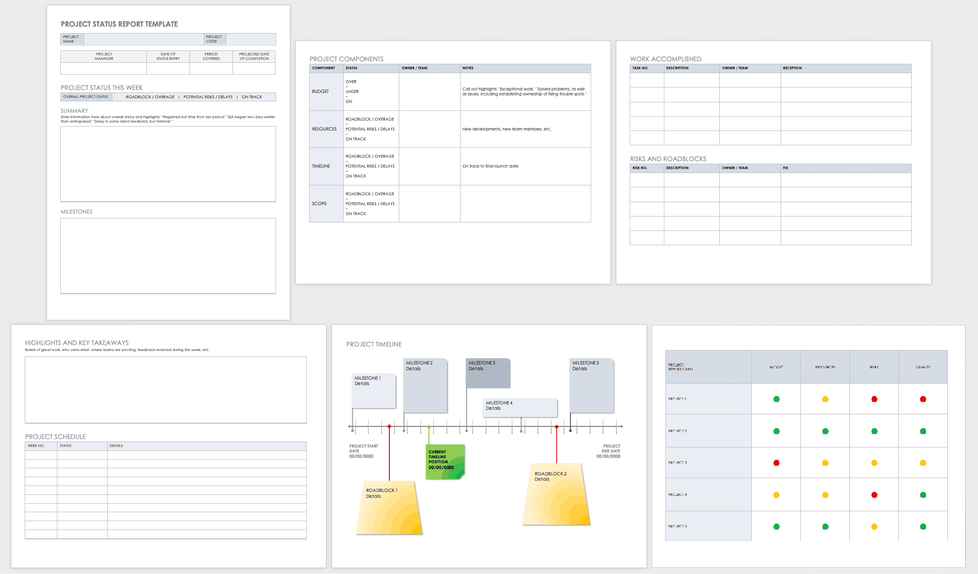 Free Project Report Templates | Smartsheet With Project Manager Status Report Template