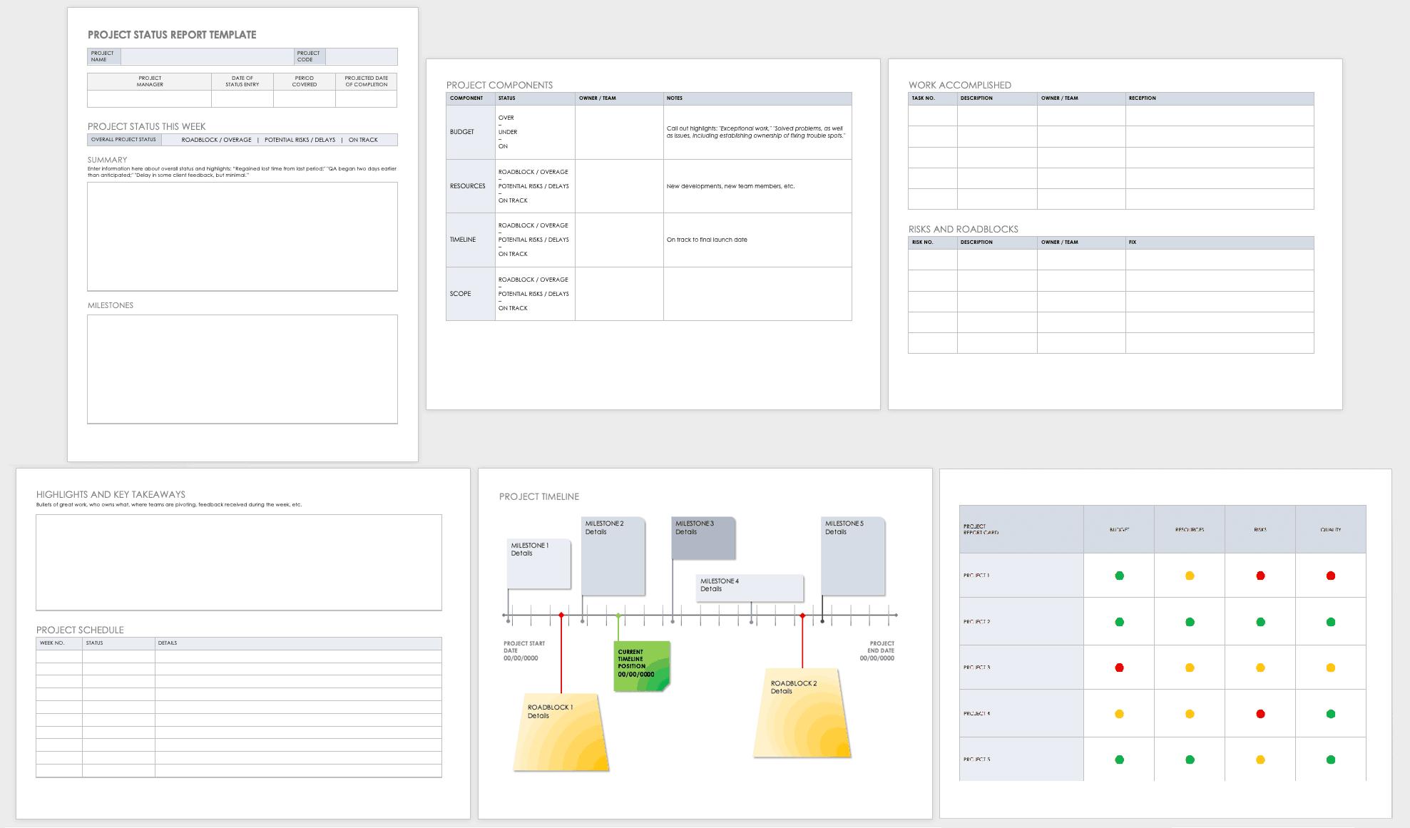 Free Project Report Templates | Smartsheet Within Simple Project Report Template