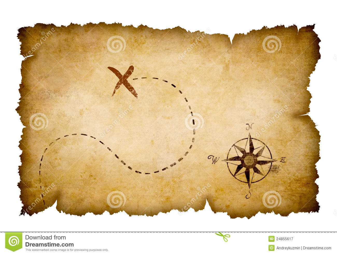 Free Treasure Map Outline, Download Free Clip Art, Free Clip For Blank Pirate Map Template