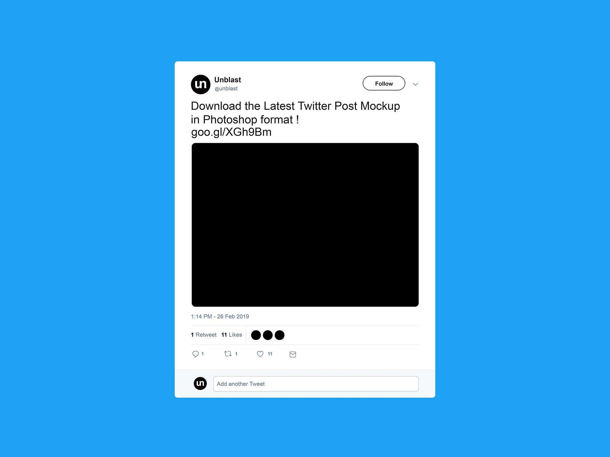 Free Twitter Post Mockup (2019) For Blank Twitter Profile Template