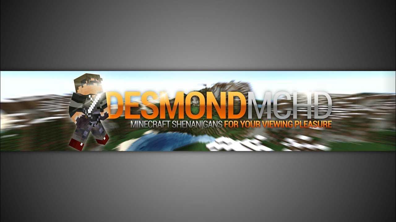 Gimp | Minecraft Youtube Banner Template [No Photoshop] Pertaining To Youtube Banner Template Gimp