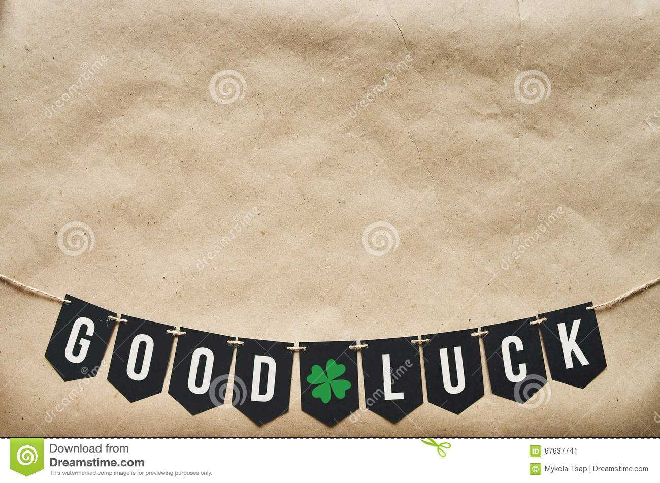 Good Luck Banner Lettering Stock Image. Image Of Preparation Within Good Luck Banner Template