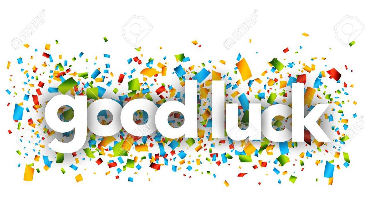 Good Luck Letters Vector Word Banner Sign Intended For Good Luck Banner Template