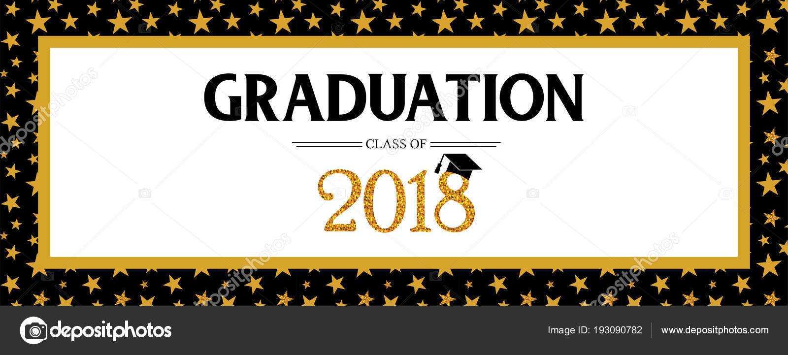 Graduation Banner Template   Graduation Class Of 2018 Within Graduation Banner Template