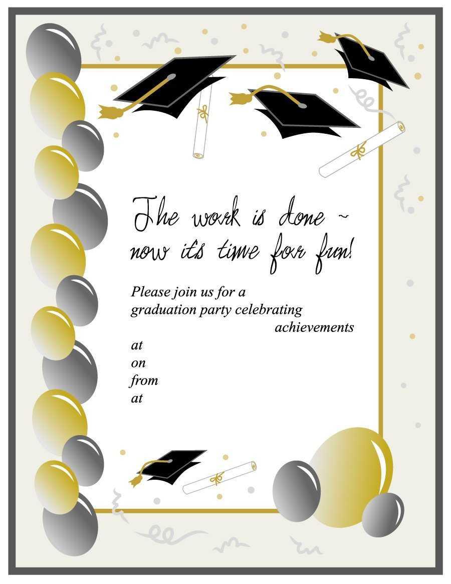 Graduation Invitation Template Free - Karan.ald2014 Throughout Free Graduation Invitation Templates For Word