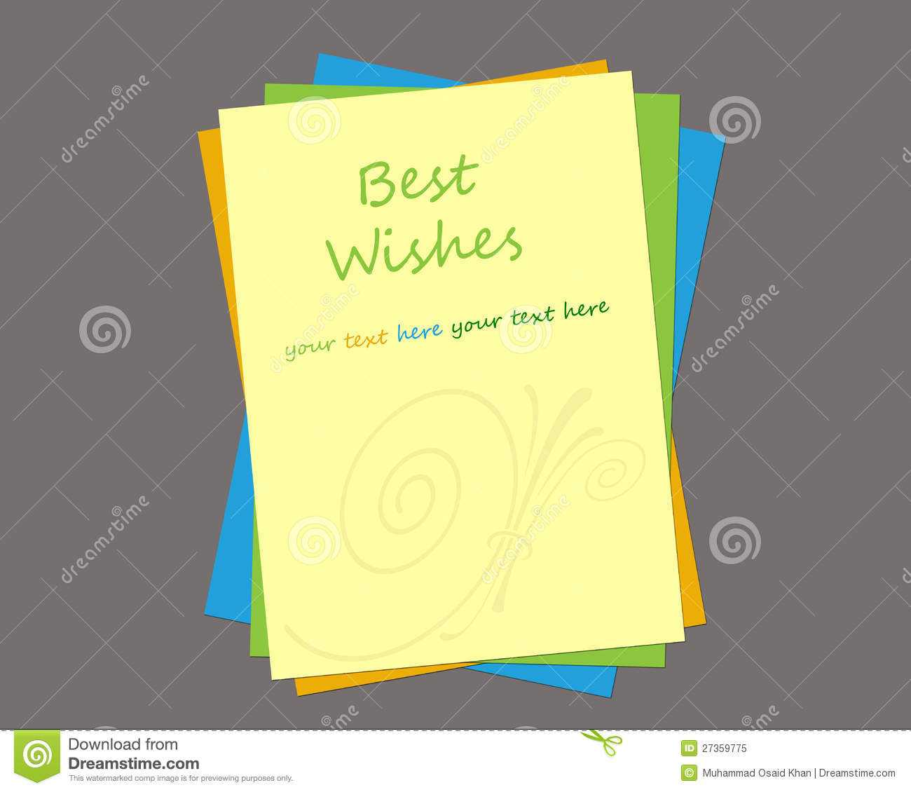 Greeting Card Template Stock Illustration. Illustration Of Pertaining To Free Blank Greeting Card Templates For Word