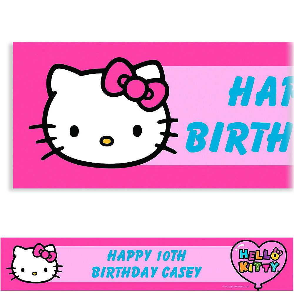 Hello Kitty Banner Clipart For Hello Kitty Banner Template