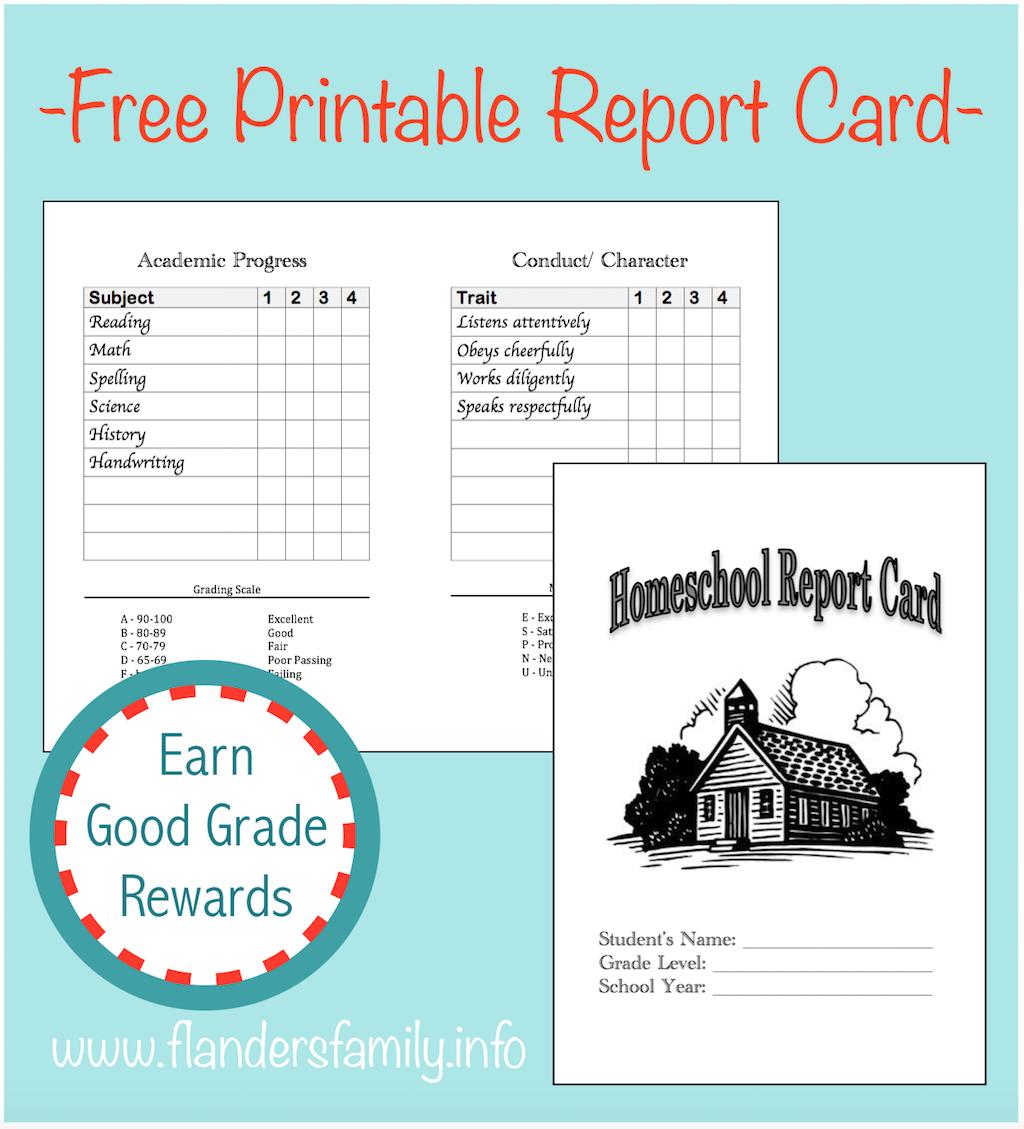 Homeschool Report Cards - Flanders Family Homelife Inside Homeschool Report Card Template