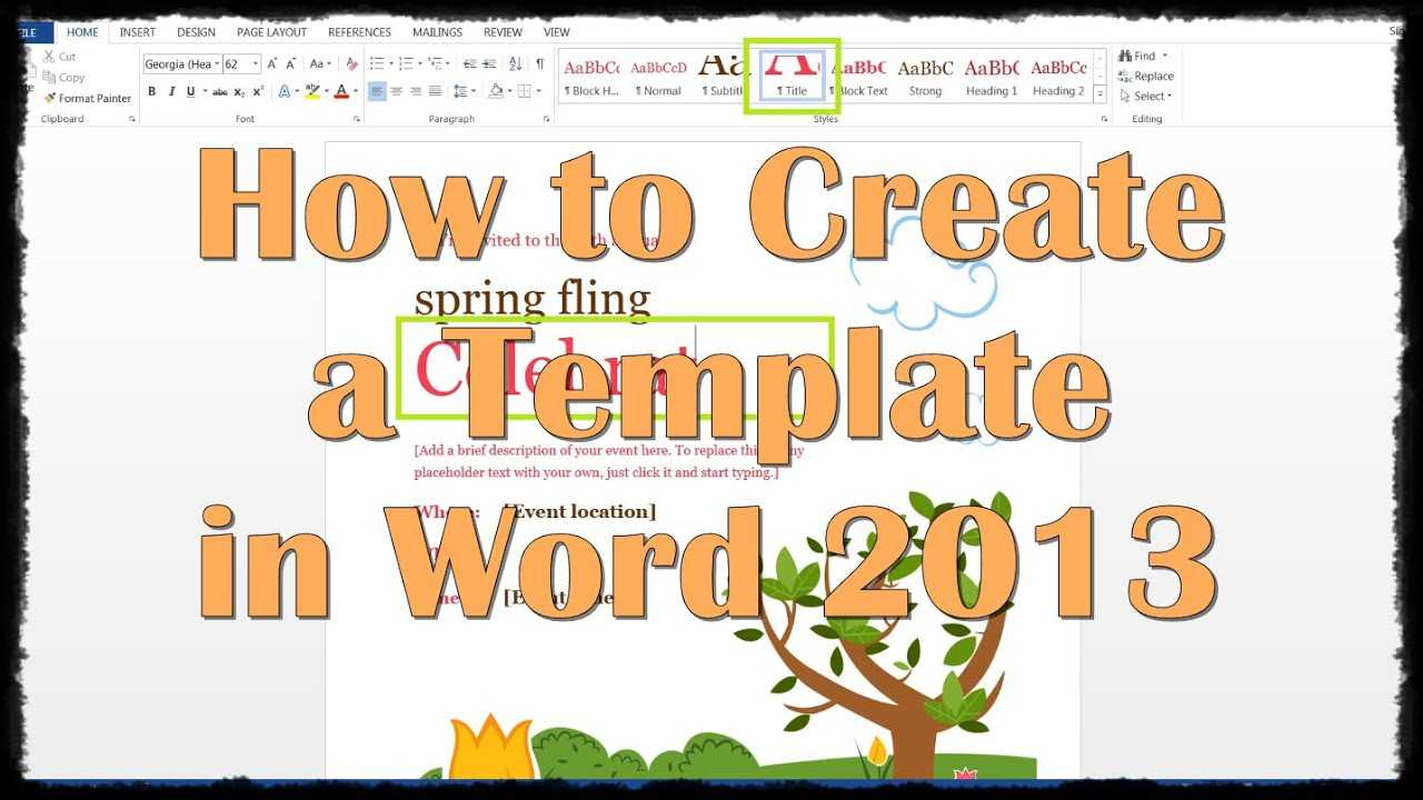 How To Create A Template In Word 2013 Intended For Creating Word Templates 2013