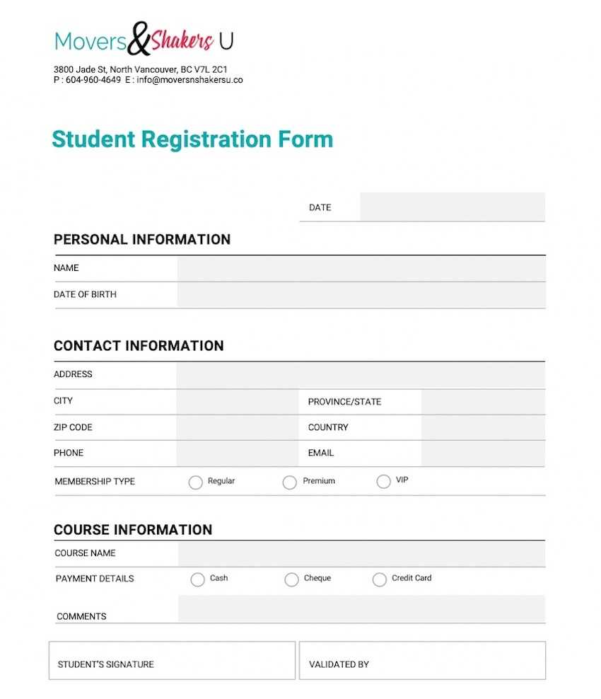 How To Customize A Registration Form Template Using For Seminar Registration Form Template Word