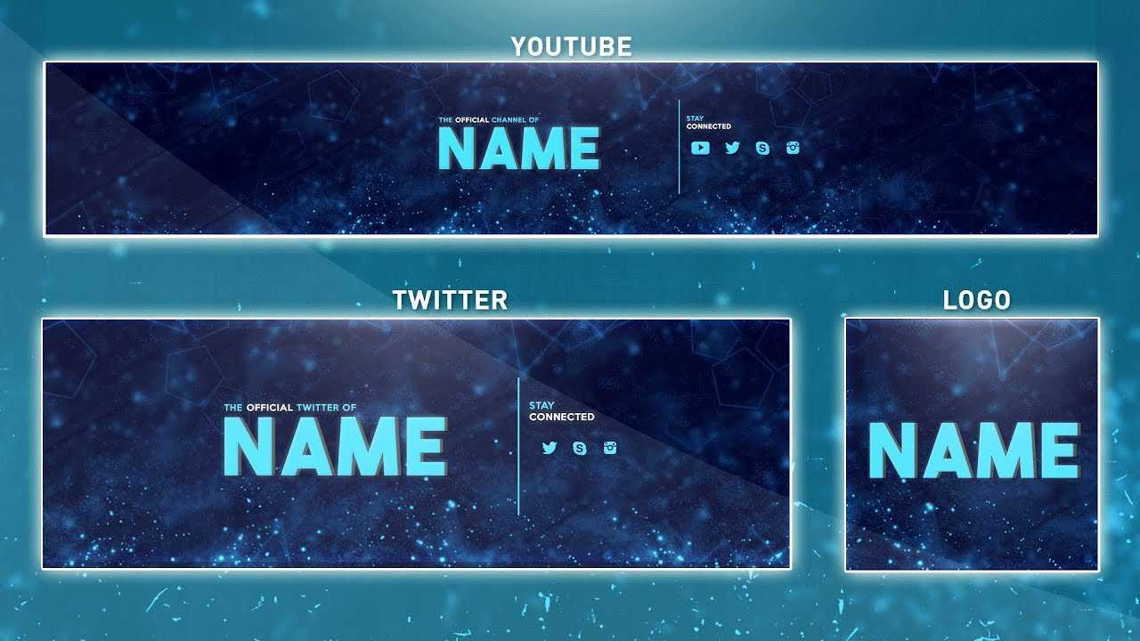 How To Edit On Youtube Banner Template | Photoshop (Banner - Logo - Twitter  Psd) Inside Banner Template For Photoshop