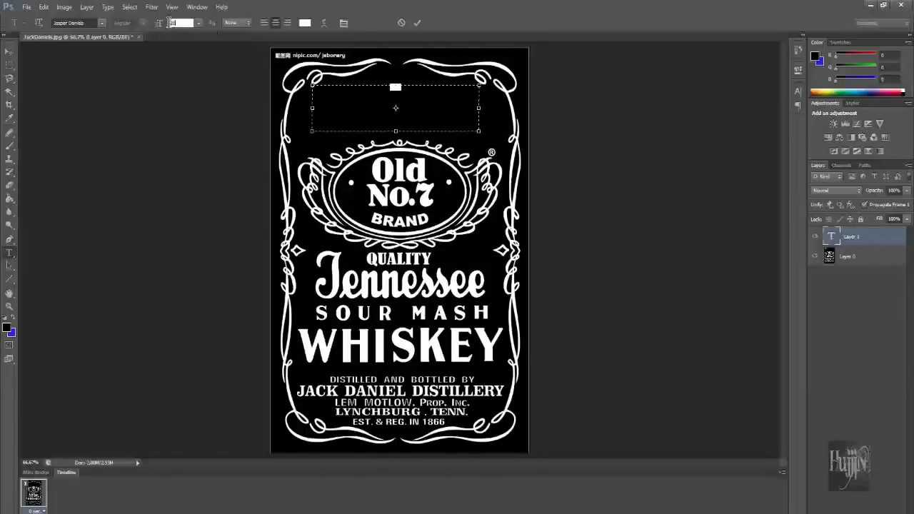 How To Make Jack Daniels Logo In Photoshop Quick & Easy With Blank Jack Daniels Label Template