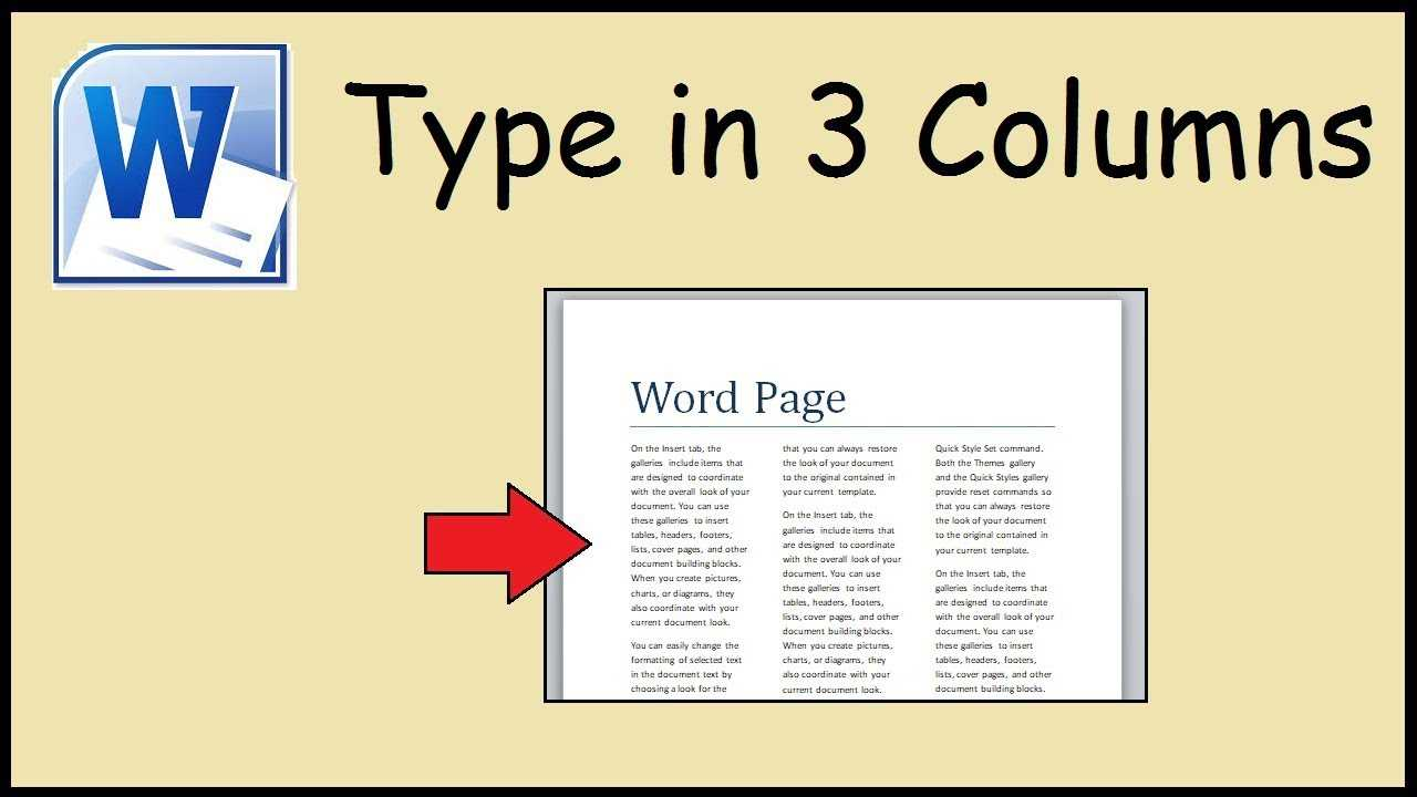 How To Type In 3 Columns Word With Regard To 3 Column Word Template