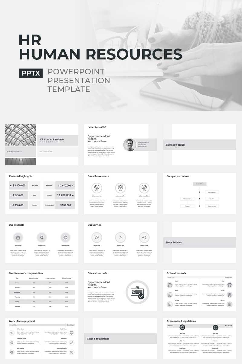 Hr Human Resources Powerpoint Template In Hr Annual Report Template
