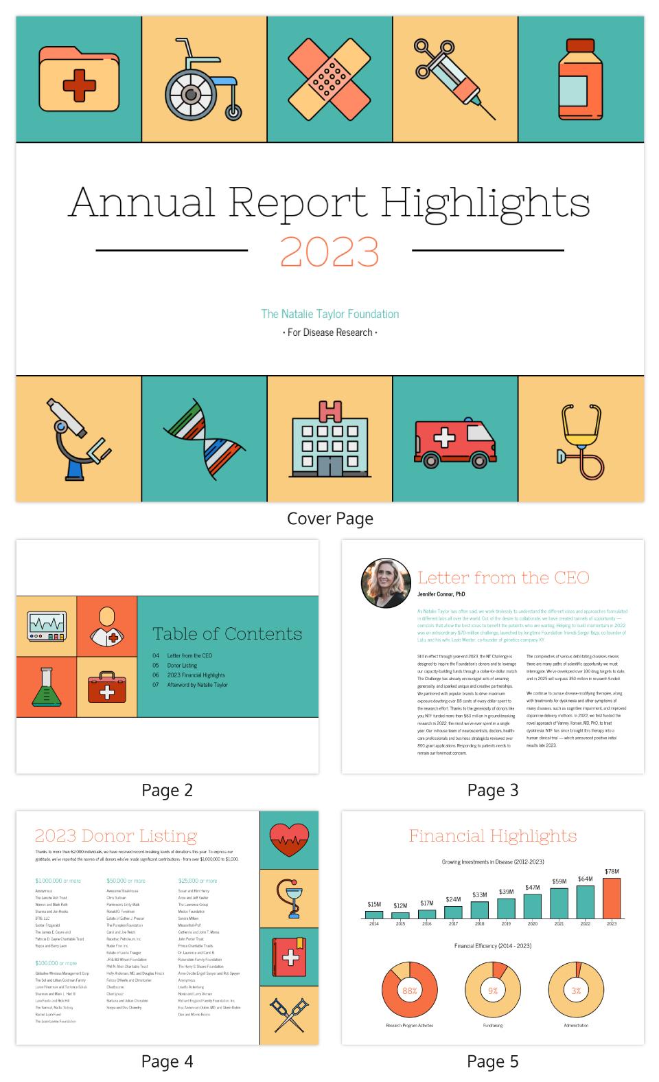 Illustrative Medical Nonprofit Annual Report Template With Regard To Nonprofit Annual Report Template