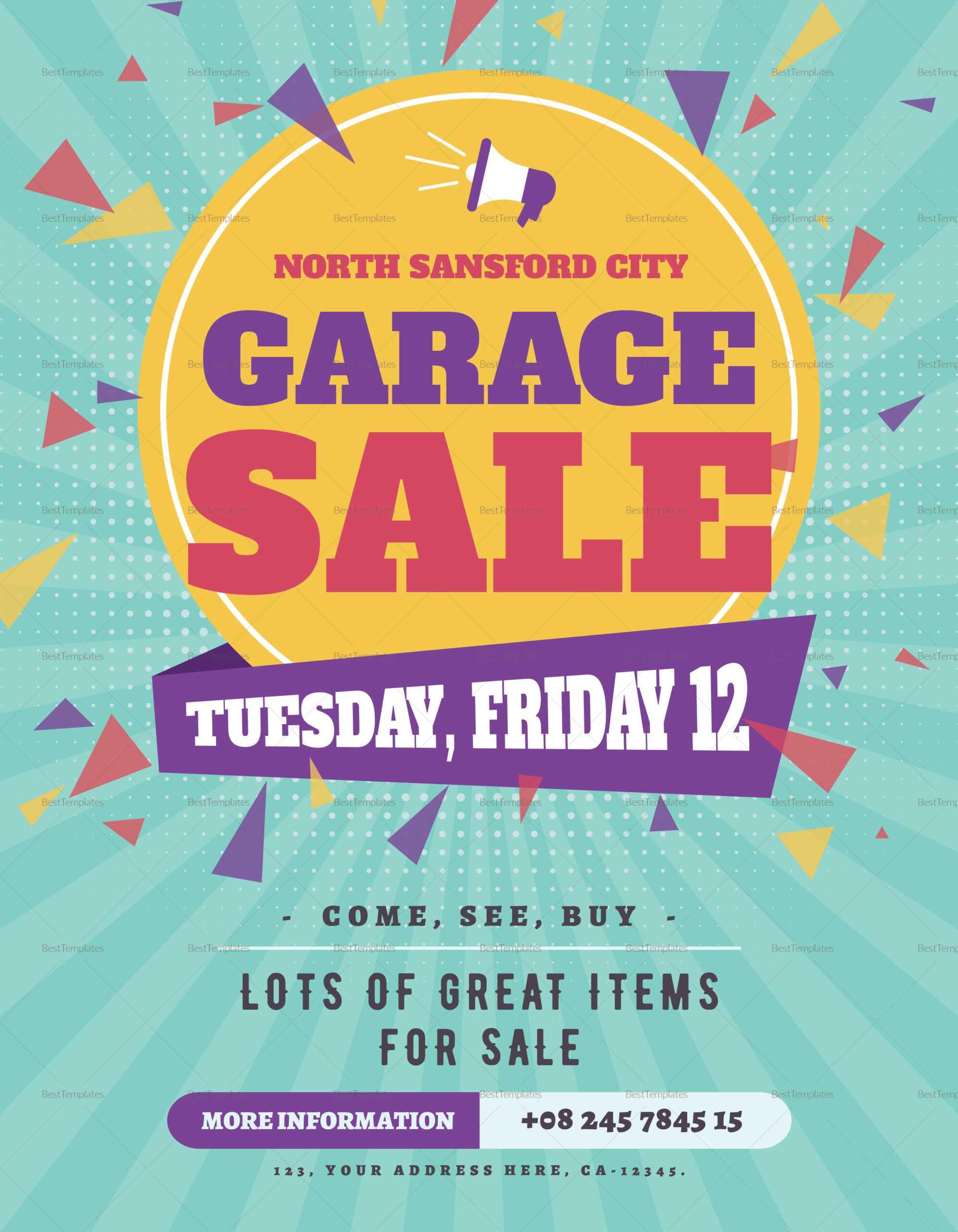 Large Garage Sale Flyer Template Inside Garage Sale Flyer Template Word