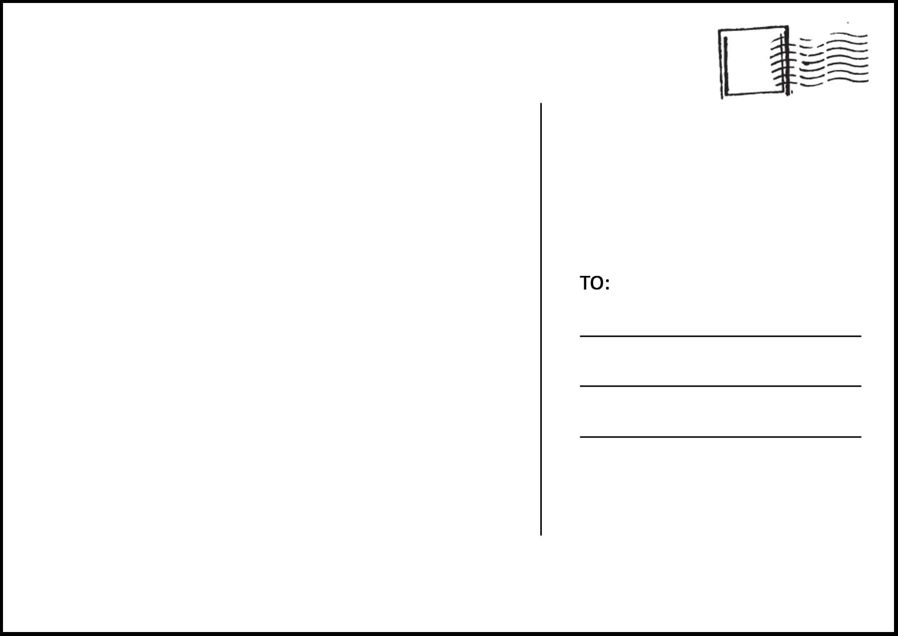 Latest Information: Postcard Template Within Free Blank Postcard Template For Word