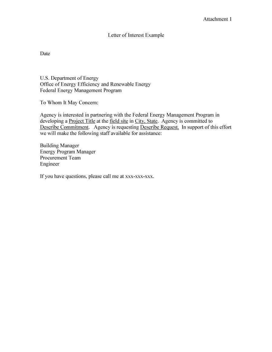 Letter Of Interest Examples - Karan.ald2014 For Letter Of Interest Template Microsoft Word