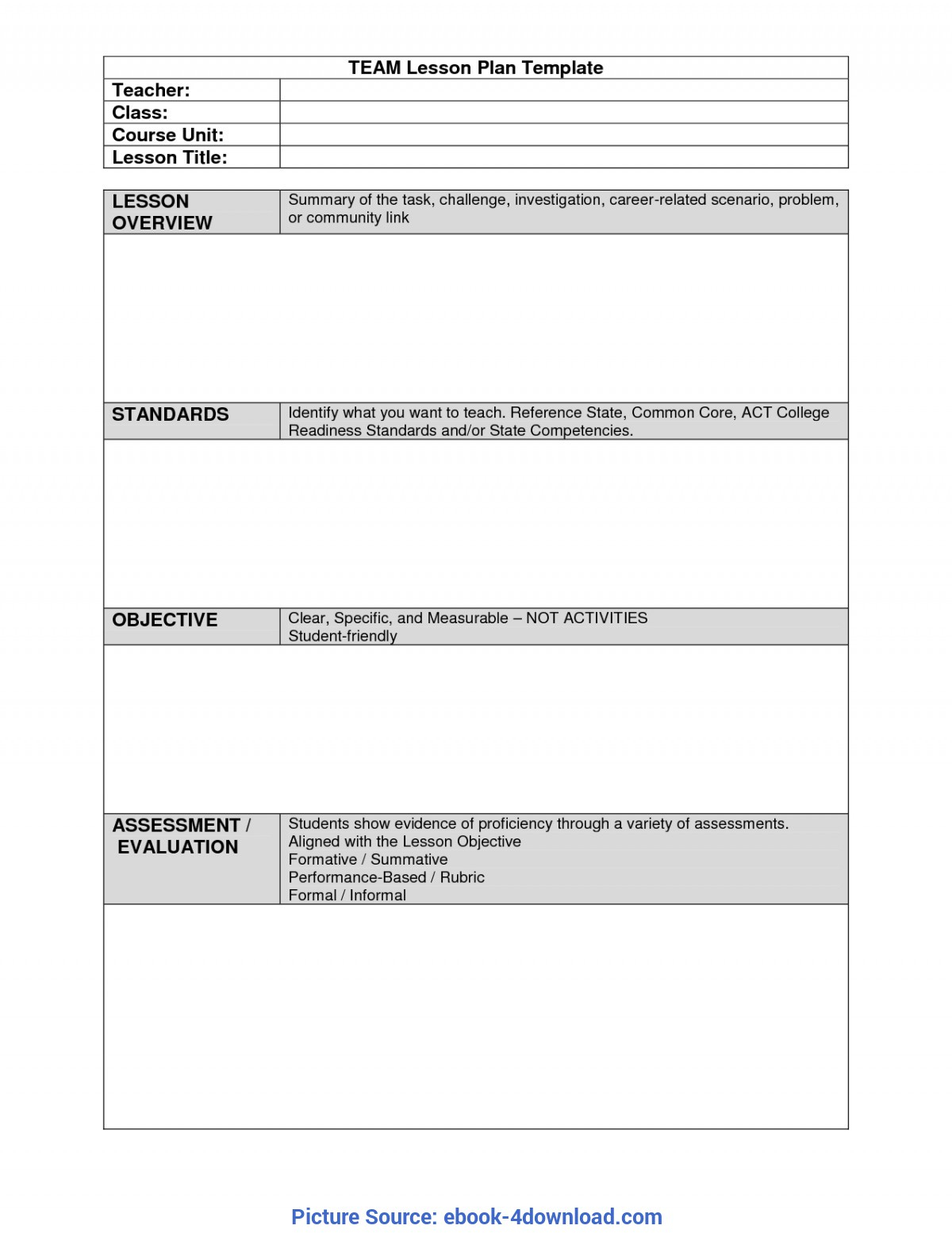 Madeline Hunter Lesson Plan Template Blank - Best Pertaining To Madeline Hunter Lesson Plan Template Word