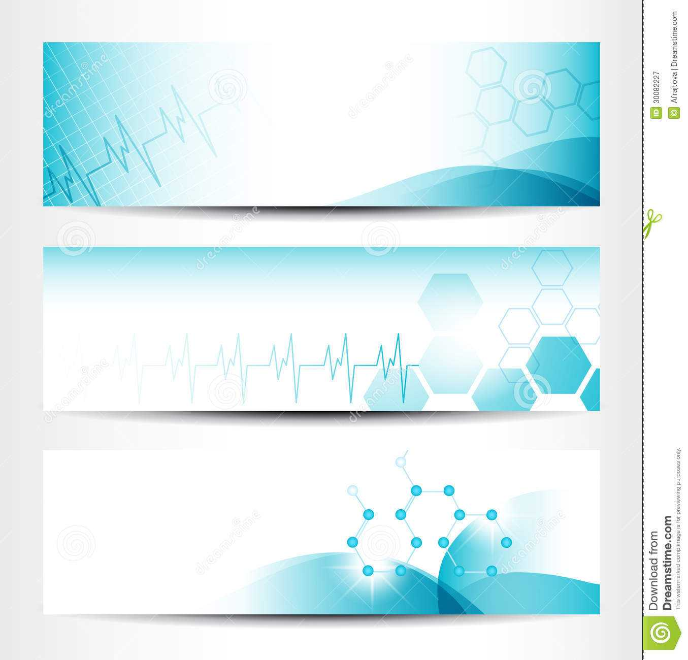 Medical Banners Stock Vector. Illustration Of Design - 30082227 With Medical Banner Template
