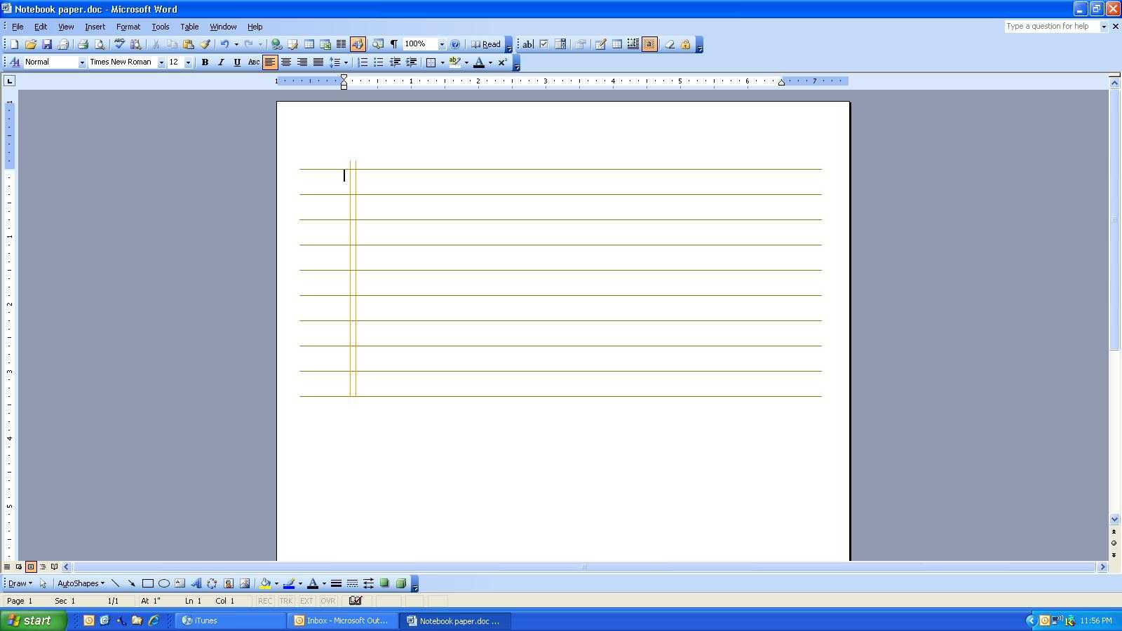 Microsoft Word 2010 Notebook Paper Template – Kerren Throughout Notebook Paper Template For Word 2010