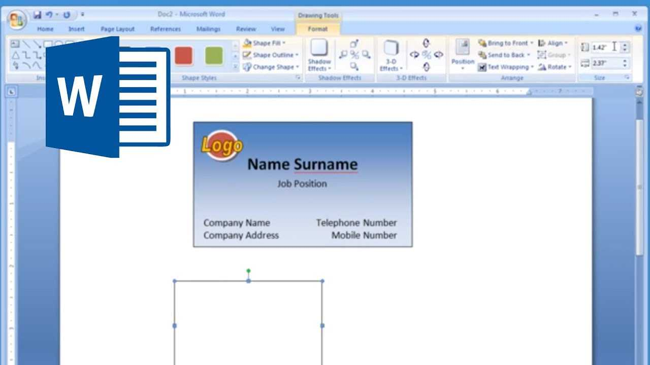 Microsoft Word – How To Make And Print Business Card 2/2 In Plain Business Card Template Microsoft Word